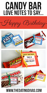 candy bar love notes to say happy birthday
