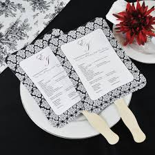 diy wedding program fans kit with design template Wedding Program Kit damask design, botanical design wedding program kits michaels