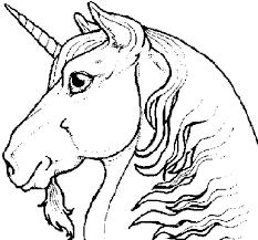 Disegno Di Testa Di Unicorno Da Colorare Acolorecom