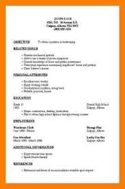 Resumes Outline 6 Job Resumes Outline Letter Setup