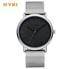 online buy whole nice watch brands from nice watch eyki simple ultra thin men watches milan nice steel weave strap luxury brand quartz watch men