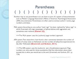 Mla Brackets Punctuation Review Parentheses Brackets And Ellipses