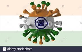 Covid India e variante indiana isolato su sfondo bianco, virus covid-19 con  bandiera Foto stock - Alamy