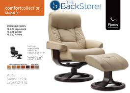 fjords muldal leather recliner chair and ottoman