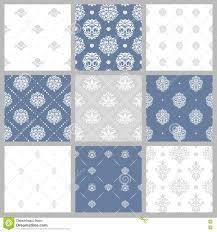 Victoriaans Patroon Wit Barok Behang Vector Illustratie