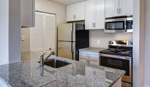 ge clean steel appliances and granite countertops in the cedarcrest premier shenandoah crossing apartment homes