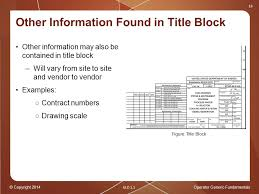 operator generic fundamentals plant drawings ppt other information found in title block
