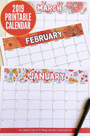 Free 2019 Calendar Printable Get Ready For A Fantastic 2019