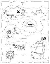 Small Picture FREE Printable Pirate Map a fun coloring page for the kids