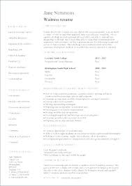 Resume Samples For Hospitality Industry Waiter Resume Template ...