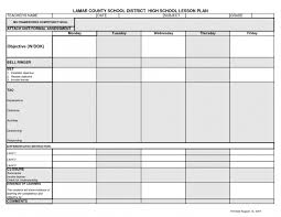 Middle School Lesson Plan Templates Editable Weekly Lesson Plan Template Templates Blank Teacher
