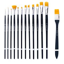 com goldstar craft no shedding 13pcs paint brush set acrylic face painting watercolor brushes that hold their shape