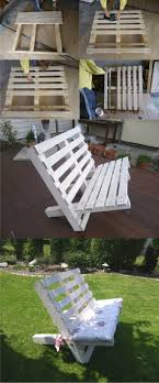 Cool patio furniture ideas Fire Pit 13 White Bench Created From Two Pallets Homebnc 27 Best Outdoor Pallet Furniture Ideas And Designs For 2019
