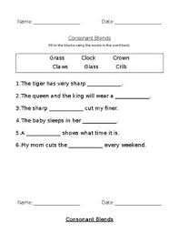 Free interactive exercises to practice online or download as pdf to print. Consonant Blends Worksheets By Casey Keedy Teachers Pay Teachers