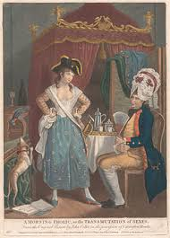 molly house  a parodic cartoon depicting male and female crossdressing c 1780 after a work