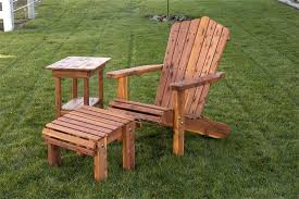 ideas amish made outdoor furniture for made chair with optional ottoman 29 amish outdoor wood rocking