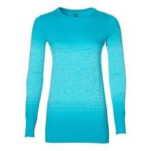 ASICS fuzeX бесшовные <b>LS</b> женская футболка с длинным ...