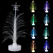 Christmas Tree With Changing Lights 1pc Led Christmas Tree Color Changing Mini Merry Xmas Tree Decoration Lamp Home Table Party Decor Table Desk Night Light
