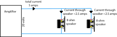 connecting multiple speakers to your hifi amplifier multiple speakers connecting 2 8 ohms speaker in parallel