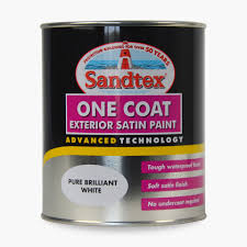 one coat exterior gloss paint. one coat exterior gloss paint