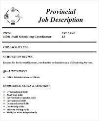 Sample Schedules Sample Schedule Awesome 44 Scheduling Coordinator Job Description Samples Sample Templates