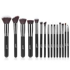 msq makeup brush set 15pcs professional cosmetic brushes with soft natural synthetic hair wood