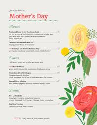 Mother S Day Menu Template Holiday Menu Templates From Imenupro More Than Just Templates