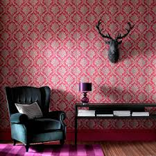 Living Room With Red 5 Red Wallpapers To Liven Up Your Living Room