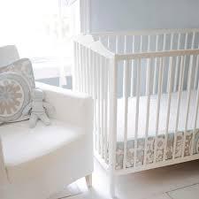 gray and blue crib bedding