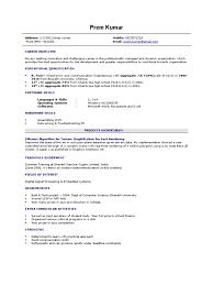 Gallery Of Fresher Resume Sample Sample Resume Format For Freshers