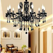 black chandelier modern crystal with pendants wrought iron chandeliers lights led bedroom in from s espanol