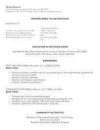 Bank Teller Sample Cover Letters Here Are Resume For Position No