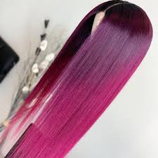Peruvian Hair <b>Ombre Color</b> Straight Long <b>Lace Front</b> Wig – Lux Hair ...