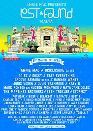 lost and found flyers ra annie mac presents lost found festival 2016 at ta qali