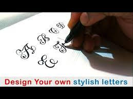 Letters In Design How To Write Stylish Capital Letters A Z How To Write Fancy