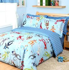 kid bedding sets for boys cartoon monkey duvet cover set sky blue boys  bedding cartoon monkey . kid bedding sets ...