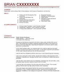 Skilled Trades Resume Examples Public Works Examples Insaat Mcpgroup Co