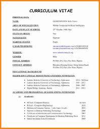Curriculum Vitae Format Impressive Curriculum Vitae Pattern Engneeuforicco