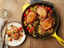 cast iron skillet provencal pork chops