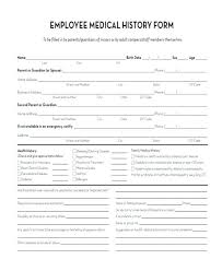 Employee Information Form Template Luxury Medical History