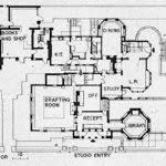 Floor Plan  Peterson Cottage  E9982 Fern Dell Road Lake Delton Frank Lloyd Wright Home And Studio Floor Plan