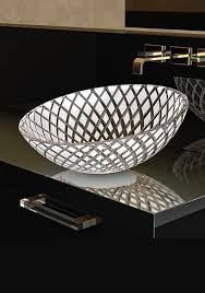diamond glass wash bowl