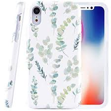 Dimaka Case for iPhone XR,Dual Layer Cute Floral Leef <b>Flower</b> ...
