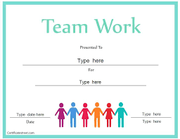 Award Of Excellence Certificate Template Unique Free Teamwork Award Certificate Templates Playinterchange