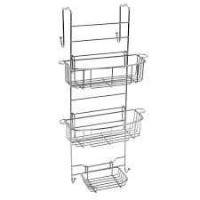 Amazon.com: Zenna Home E7803STBB, Over-the-Shower Door Caddy, Stainless  Steel: Home & Kitchen