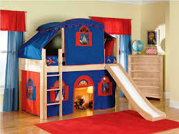Kids Bunk Bed With Slide And Stairs Unacco