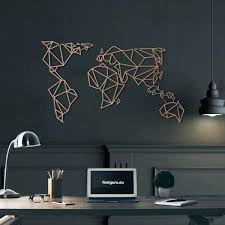 metal world map for wall bronze picture frame art
