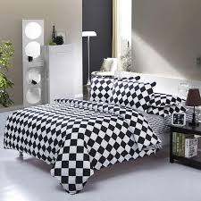 black white square king queen full size bedding set comforter sheet duvet cover linen home textile pillow case n21 comforters bedding sets