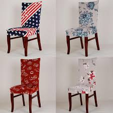 spandex elastic stretch chair covers printing chair protector slipcover kitchen dining chair cover removable dustproof decorative