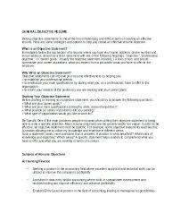 Write Resume Objective Objective In Job Resume Sample Objective